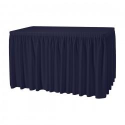 Tafelrok combirok plissé rechthoek donkerblauw