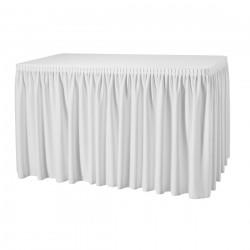 Tafelrok combirok plissé rechthoek wit