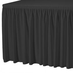 Tafelrok combirok plissé rechthoek zwart