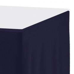 Tafelrok ongeplooid 73 cm hoog donkerblauw