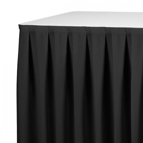 Tafelrok boxpleat met brede plooi 280 x 73 cm zwart