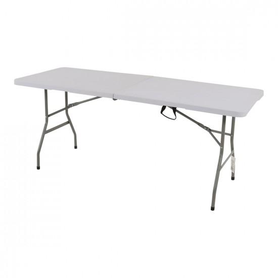 Inklapbare buffettafel 180 cm wit kunststof tafelblad