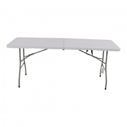 Inklapbare buffettafel 180x70x74 cm wit kunststofblad