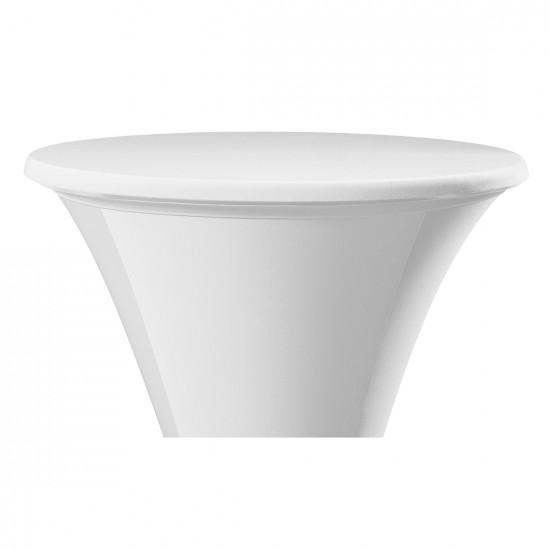 Statafel topcover samba rond wit