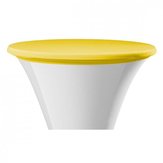 Statafel topcover samba rond geel