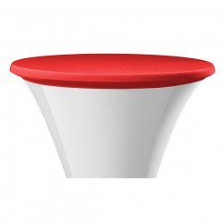Statafel topcover samba rond rood