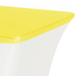 Topcover rechthoek 183 x 76 cm geel