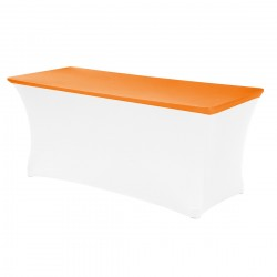 Topcover rechthoek 183 x 76 cm oranje