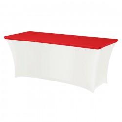 Topcover rechthoek 183 x 76 cm rood