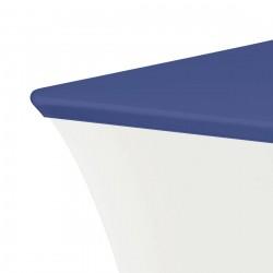 Topcover rechthoek 183 x 76 cm blauw