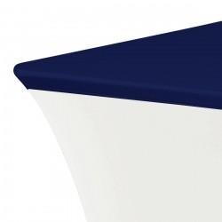 Topcover rechthoek 183 x 76 cm donkerblauw