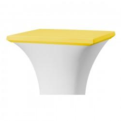Topcover vierkant 80 x 80 cm geel