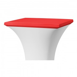 Topcover vierkant 80 x 80 cm rood