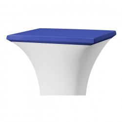 Topcover vierkant 80 x 80 cm blauw
