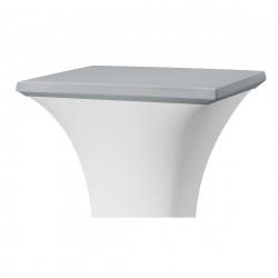Topcover vierkant 80 x 80 cm grijs