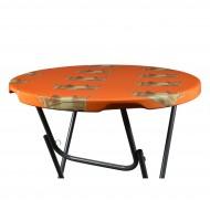 Tafel topcover 80 85 cm oranje met kroon